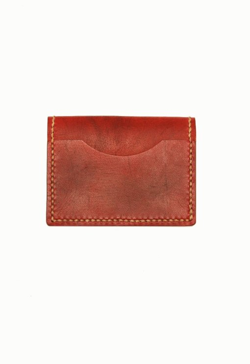 Leather.PH Travel Cardholder - Red