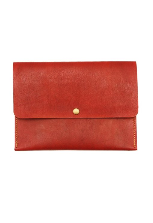 Leather.PH Travel Clutch - Red