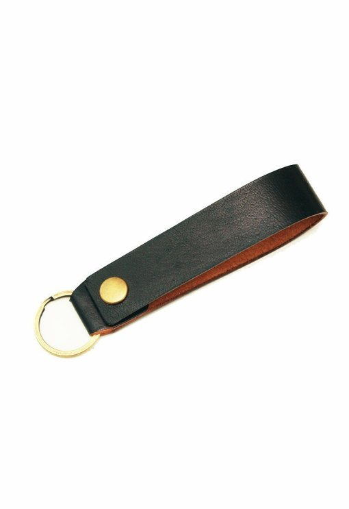 Leather.PH Key Chain Slim - Black