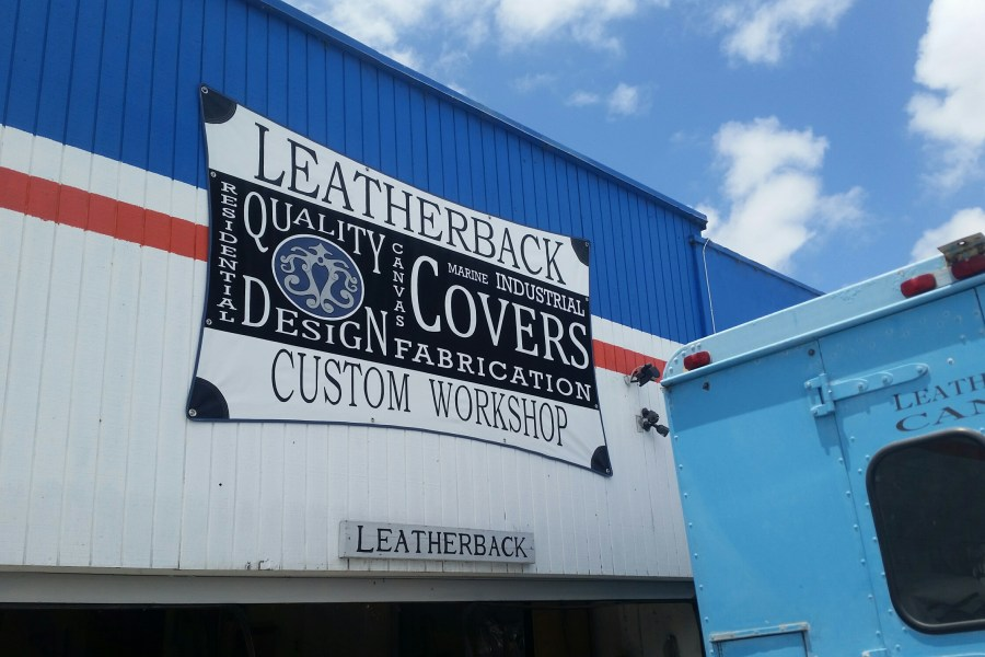 Look for our new hand painted and applique sign