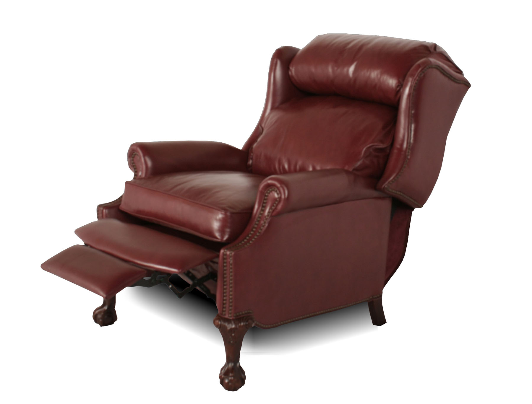 Leather Recliner Chairs Wingback Leather Recliner