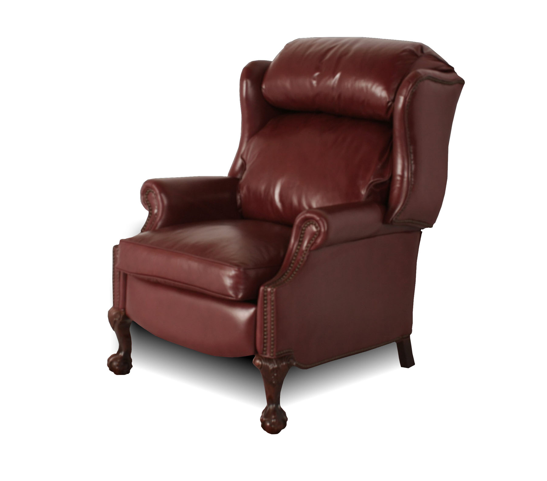 Leather Reclining Chair Wingback Leather Recliner