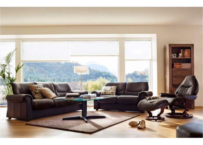Stressless Sofa Space Stressless Liberty Low-back Leather Sofa & Sectional