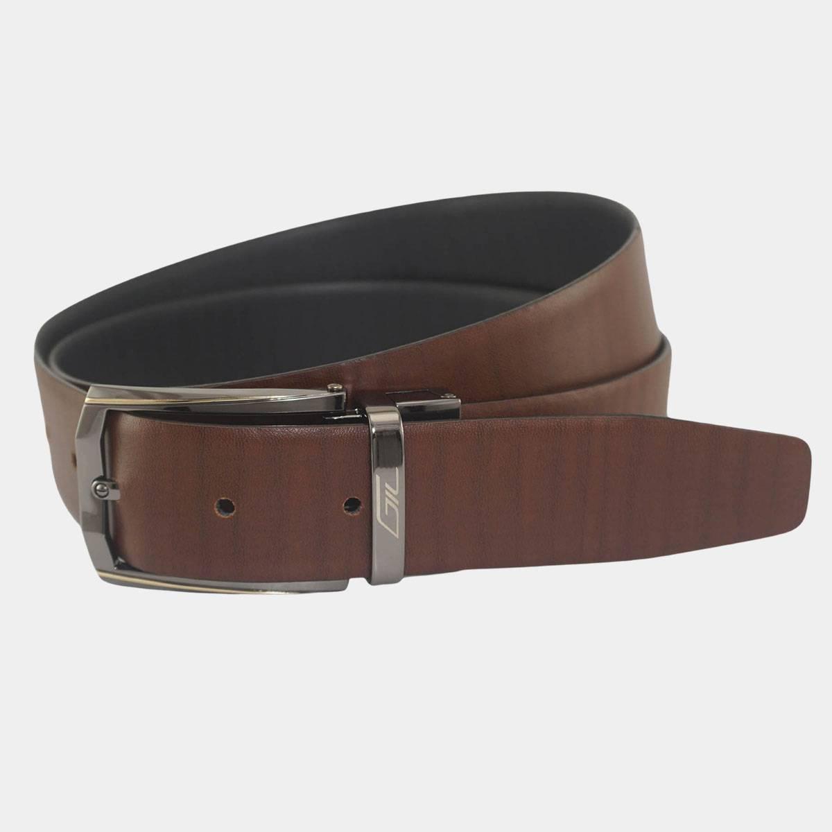Premium Men's Reversible Leather Belt