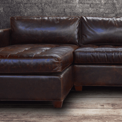 Vintage Leather Sectional Sofa Floor Singapore American Made Furniture, Sofas, ...