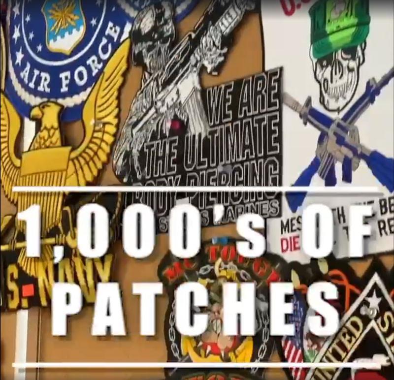1,000s of Patches.