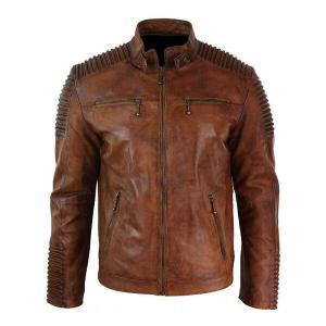 Men's Brown Danger Zone Leather Jacket