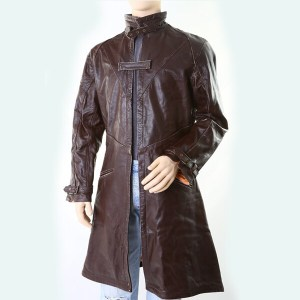 Chocolate- Men's Leather Coat