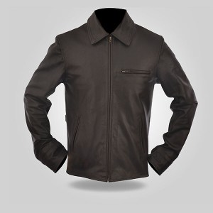 Charcoal - Men's Leather Jacket