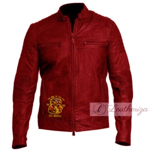 Cobra Kai Red Stylish Men's Leather Jacket