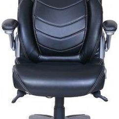 Office Chair Comfortable Shower Sex Active Lumbar Support Managers Black Bonded Leather True Wellness