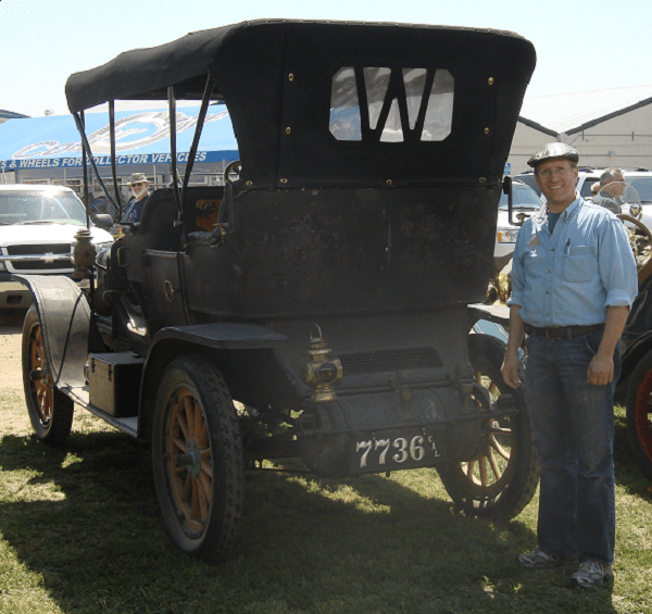 """""""Thanks, the plate looks great on our original 1909 White Model O Steamer. Now we'll have to plan on some more plates, my son's '14 Model T will certainly need one. Sorry 'bout the dirty car.........we just finished running the 2011 Bakersfield Tour yesterday."""" -- Ryan Thurber"""