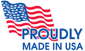 Proudly Made In USA with US Flag