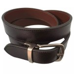 Black and Brown Double Sided Leather Belt