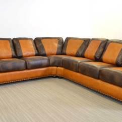 Santa Monica Sofa Set Leather With Wood Trim Vintage Texas Home  The Company