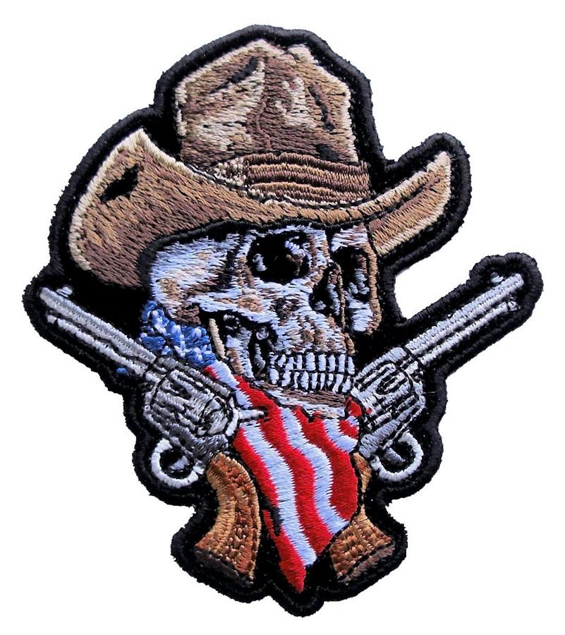 american cowboy skull guns
