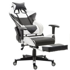 Gaming Chair With Footrest 2 Tone Table And Chairs Giantex High Back Racing Style Reclining