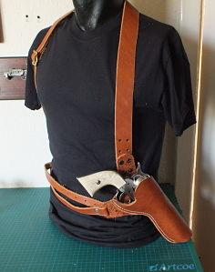 Shoulder Holster Pattern Pdf : shoulder, holster, pattern, Holiday, Shoulder, Holster, Pattern, Needed, Holsters,, Rifle, Slings, Knife, Sheathes, Leatherworker.net