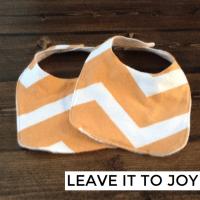 DIY Sew: Flannel Baby Bib with Pattern | leave it to Joy