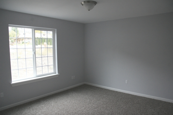 Empty Blank Bedroom