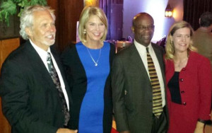 Rich Pahls, Mayor Jean Stothert, Franklin Thompson and Aimee Melton