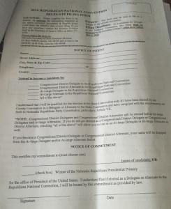 Delegate sheet