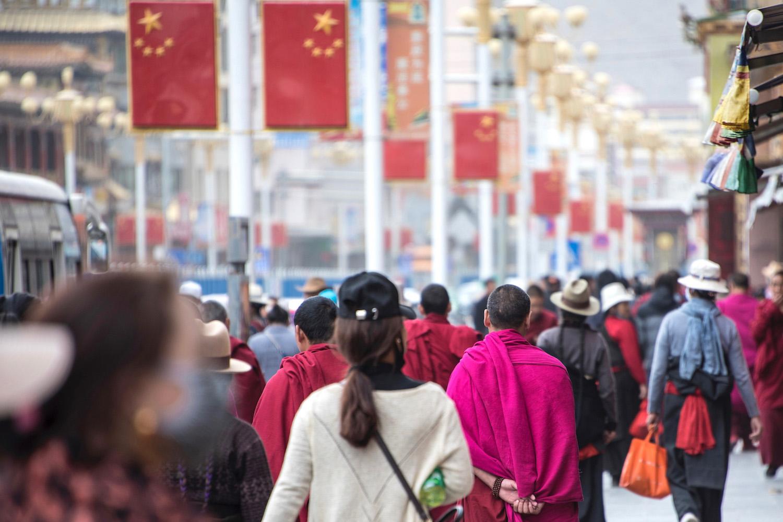 Tibetan people in Xiahe, China