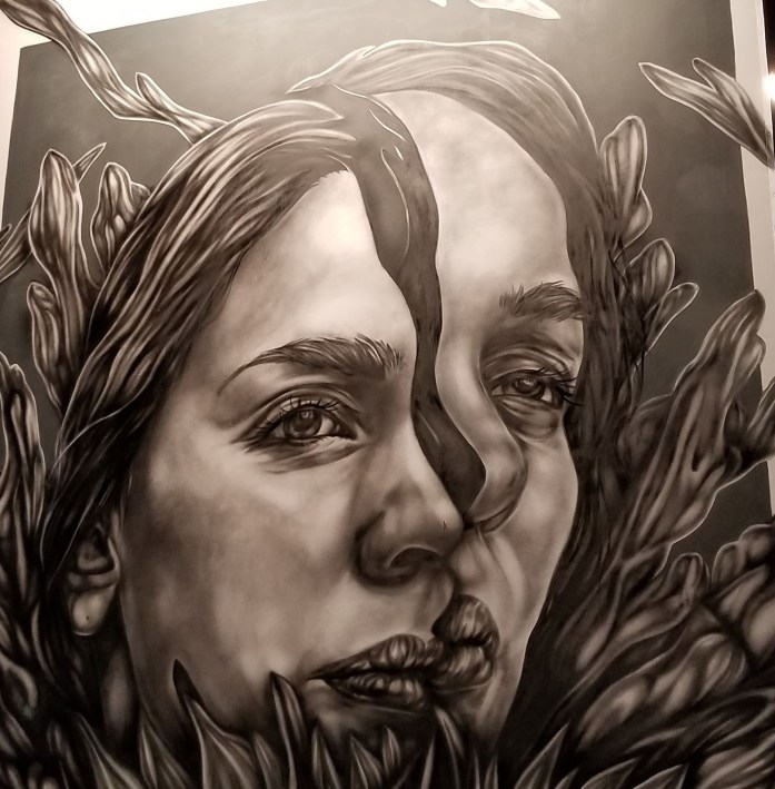 Being a people pleaser felt a lot like this artwork (which I saw at Kaaboo) - fractured.
