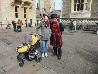 A good sport Yeoman Warder!