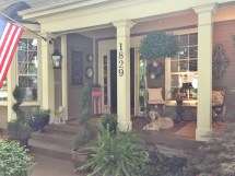 Front Porch Makeover Leaving Trail