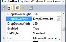 Mencegah User Menginput Di ComboBox