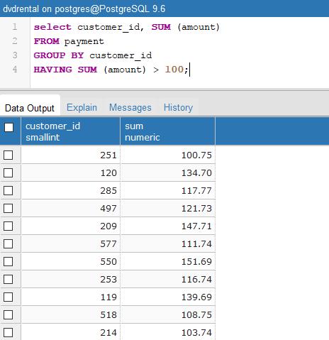 Tutorial Belajar PostgreSQL Having