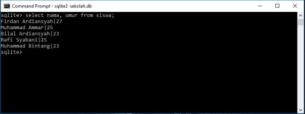 Tutorial Belajar SQLite Perintah Select