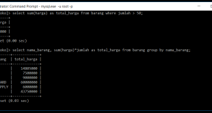 Fungsi Sum Di Database MySQL