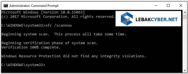 Cara Memperbaiki Sistem Windows 10 Dengan CMD NFC