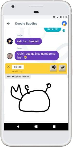 Chat Sambil Main Tebak Gambar Di Google Allo
