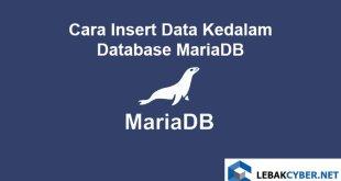 Cara Insert Data Kedalam Database MariaDB