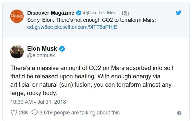 Tanggapan Elon Musk Mengenai Mars Yang Tidak Dapat Dihuni