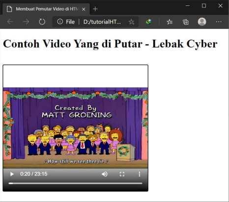 Membuat Pemutar Video di HTML