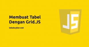 membuat tabel dengan grid.js