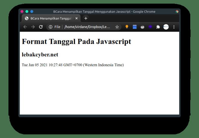 menampilkan tanggal di Javascript