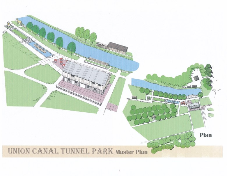 detail of the Union Canal Tunnel Park Master Plan