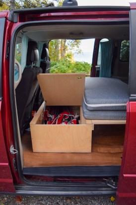 Rangement structure d'aménagement minivan