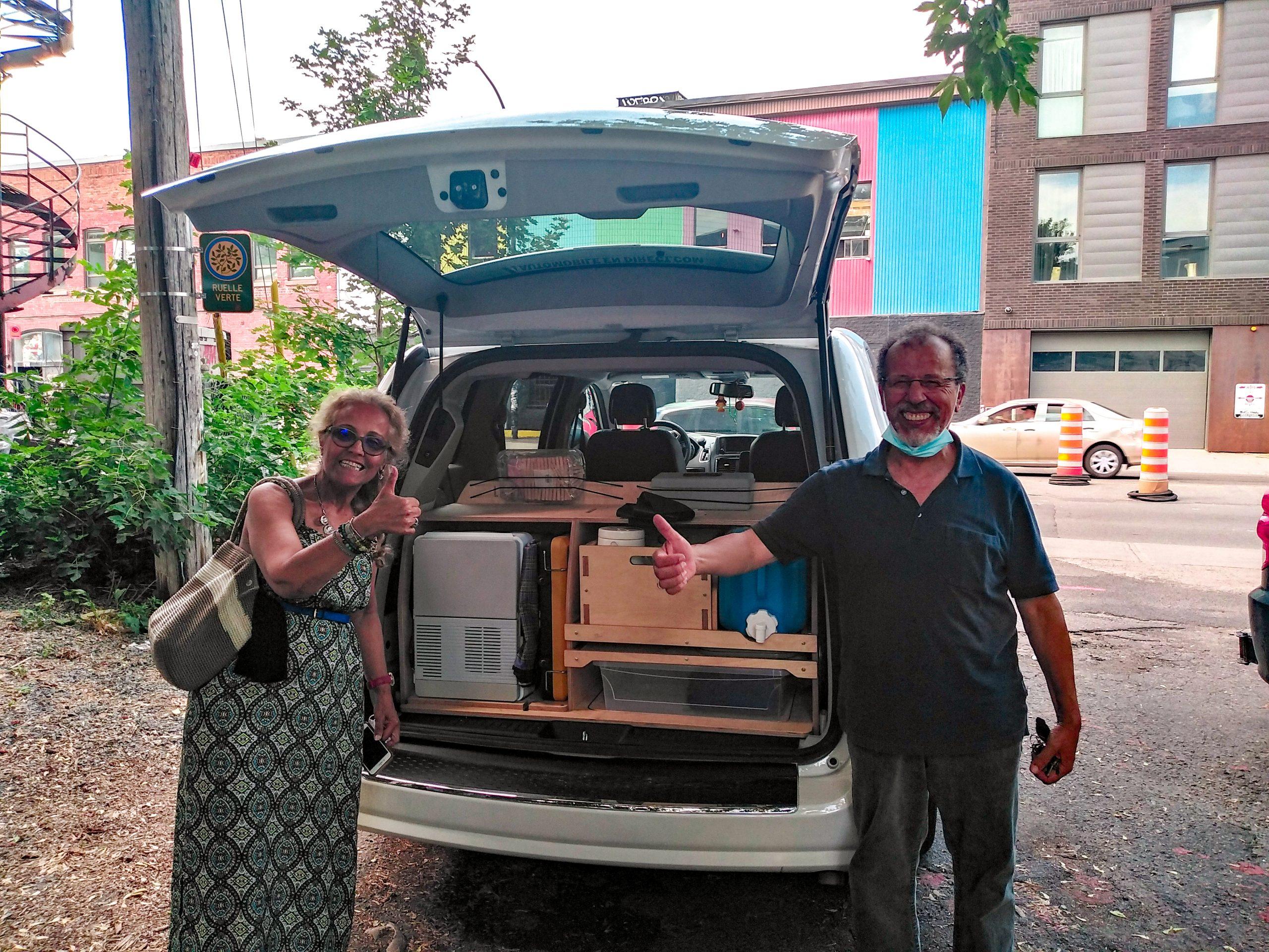 Aménagement arrière du minivan