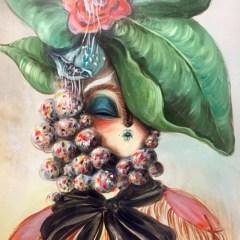 miss van retrato floral by le bastart