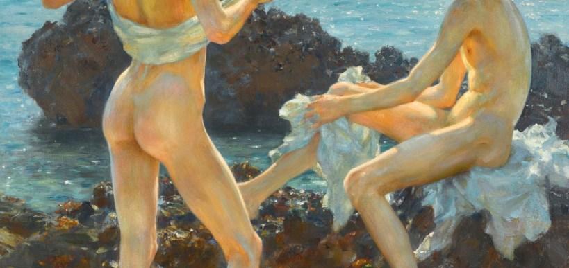 henry scott tuke - under the western sun - le bastart
