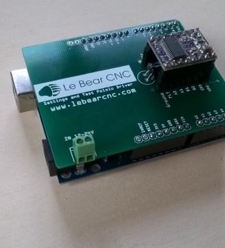 Arduino Shield test Pololu monté sur Arduino