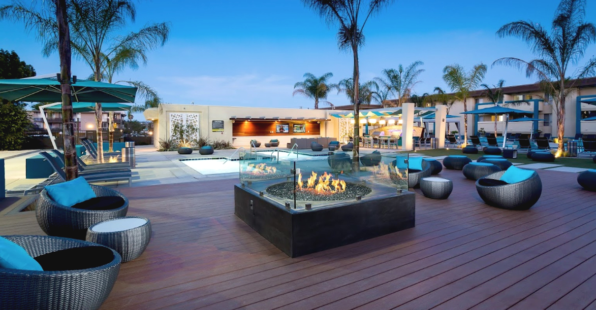 AVA Pacific Beach Apartments  Modern Outdoor Furniture