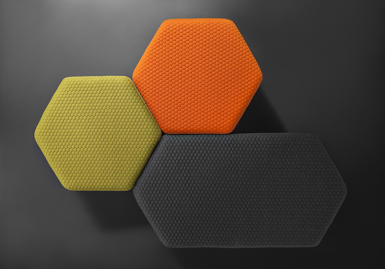 Hexagon Outdoor Stool  Poufs  Lebello Outdoor Furniture