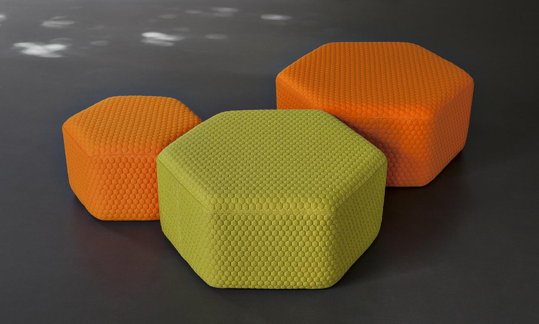 Hexagon Outdoor Stool Amp Poufs Lebello Outdoor Furniture